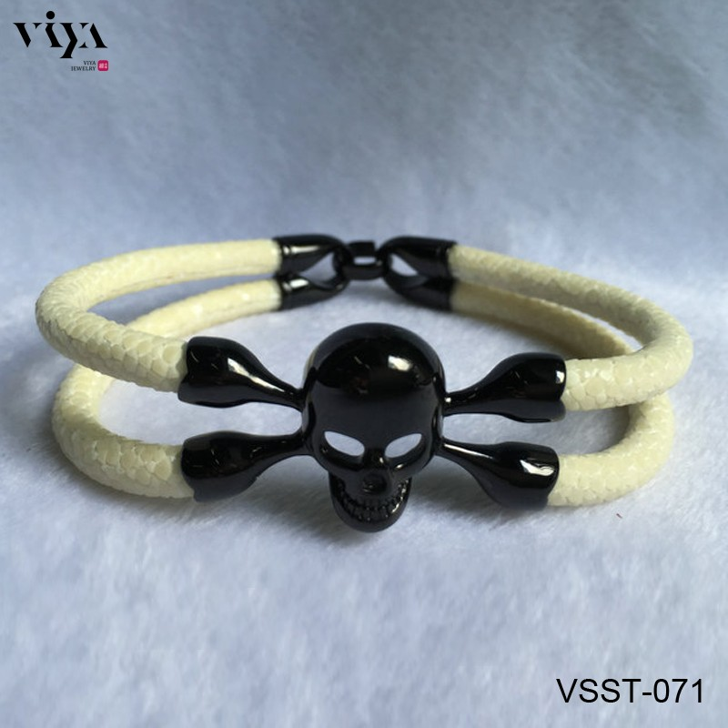 VSST-071 white stingray leather bracelet