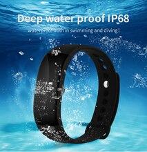 Smartch IP68 Водонепроницаемый V66 монитор сердечного ритма Смарт Браслет крови Давление анти-потерянный сидячий напомнить Браслет smartwatch