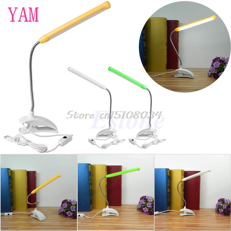 1pc Usb 13 Led Light Clip On Clamp Bed Table Study Desk