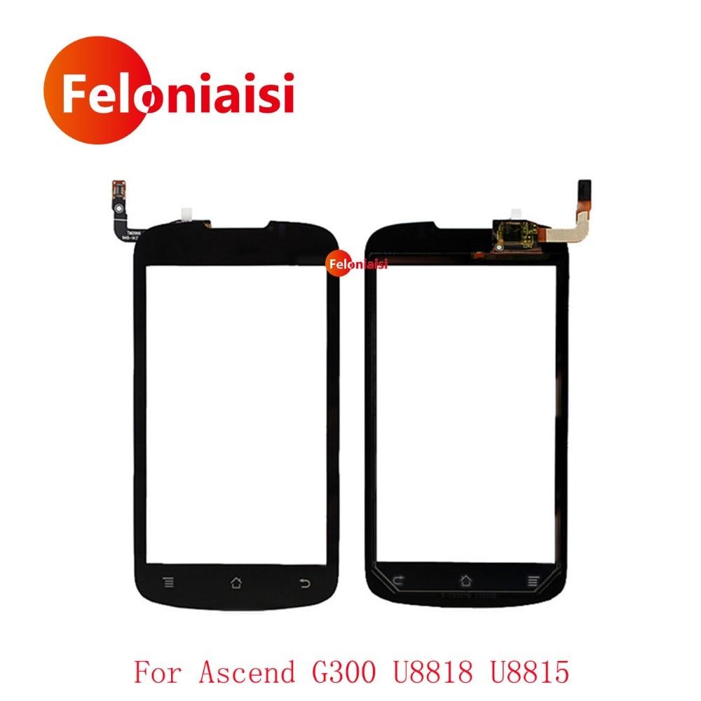 High Quality 4.0 For Huawei Ascend G300 U8818 U8815 Touch Screen Digitizer Sensor Outer Glass Lens Panel Black+Tracking Code