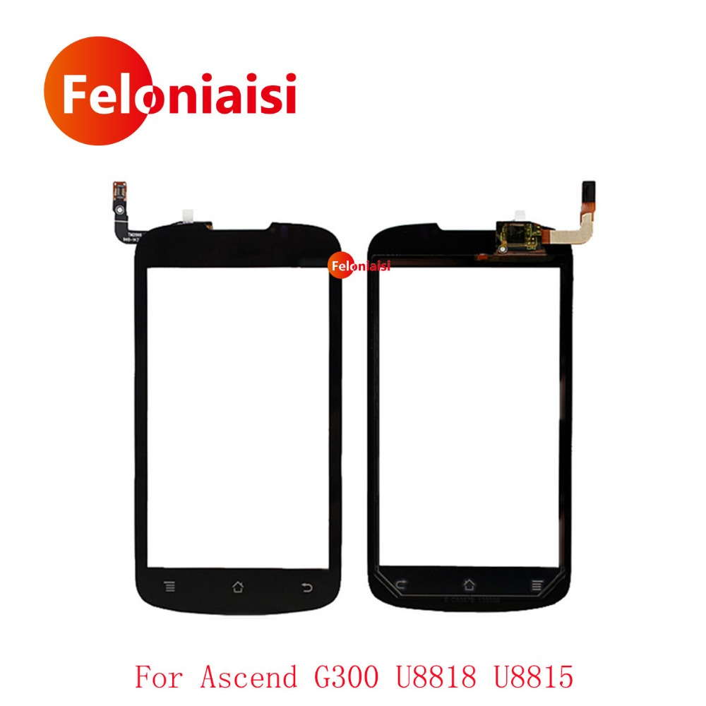 High Quality 4.0 For Huawei Ascend G300 U8818 U8815 Touch Screen Digitizer Sensor Outer Glass Lens Panel Black+Tracking Code