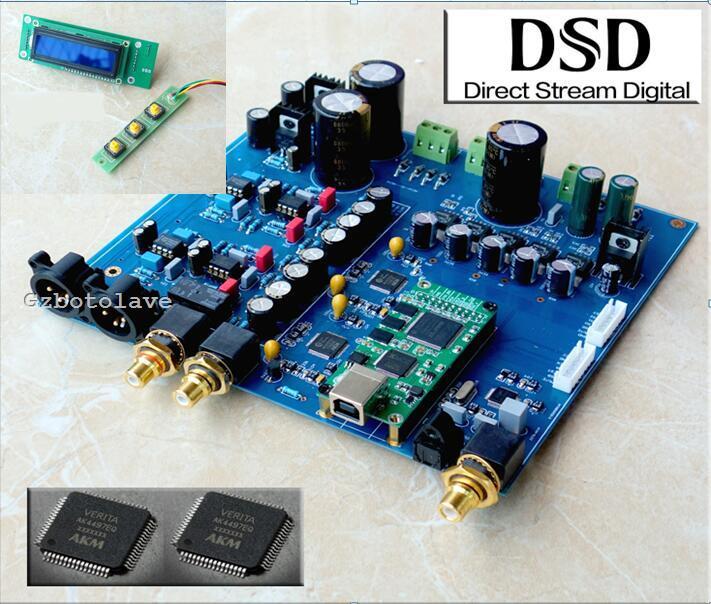 Dual AK4497 DAC decoder amplifier AK4118 32bit 384K DSD DAC board xiangsheng dac 05b asynchronous xmos dual 1794 ak4118 ak4495 dsd balanced decoding xu208 decoder 32bit 384k dsd256