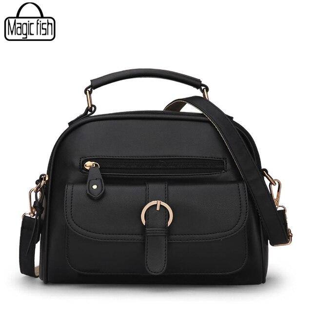 b62584444fa3 New 2018 Multi-Function Women Handbags PU Leather Female Shoulder Bag Casual  Candy Color Women