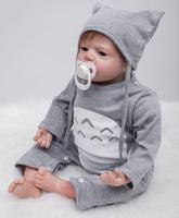 22 55cm Handmade Lifelike Baby Silicone Vinyl Boy Girl Reborn Toddler Newborn Dolls