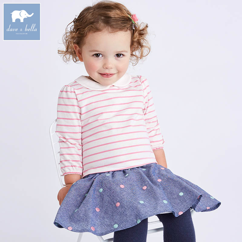 DBA6559 dave bella spring infant baby girls skirt clothing sets printed suit children toddle outfits high quality clothesDBA6559 dave bella spring infant baby girls skirt clothing sets printed suit children toddle outfits high quality clothes