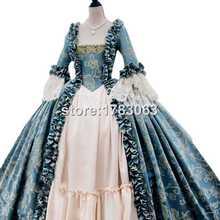 Полностью корсетный рококо колоний грузинский 18thc Marie Antoinette день суд платье