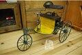 Clase de juguete de regalo de gran tamaño de La Vendimia Retro Miniatura triciclo niño coche de Metal Artesanía Decoración Del Hogar Shabby Chic Europea de Colección