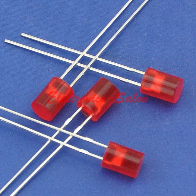 ( 50 pcs/lot ) 5mm Red Normal Brightness Cylindrical LED.(China)