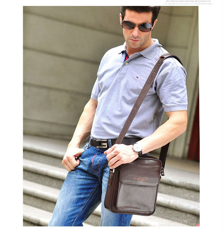 new arrival fashion men's business bag, high quality  vertical style brand design genuine cow leather shoulder bags for men new brand esloth for ipad waterproof genuine leather bag high quality fashion multi use design 32cm 11cm 19cm female bag nb05