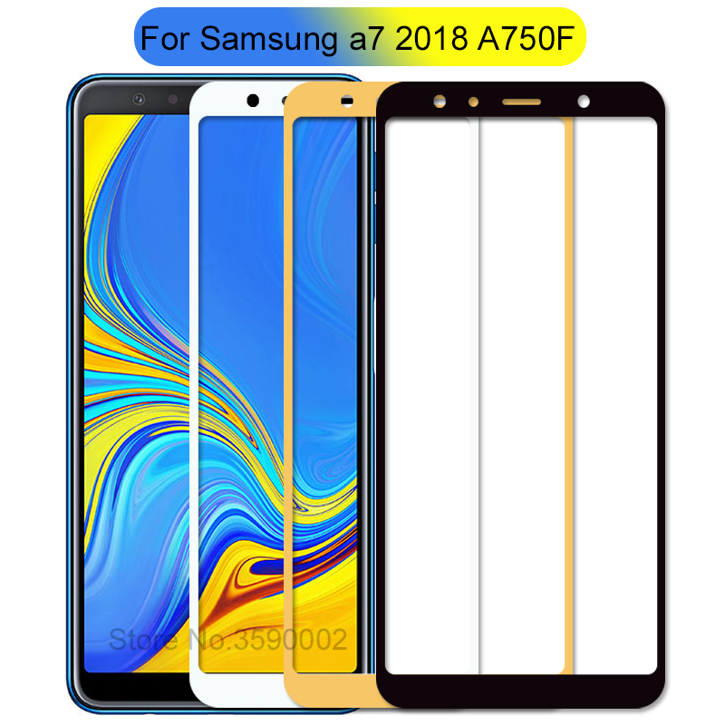 For Samsung Galaxy A7 2018 Tempered Glass For Samsung A7 2018 A 7 A750F A750 SM-A750F Screen Protector Full Cover Film Glas 6.0