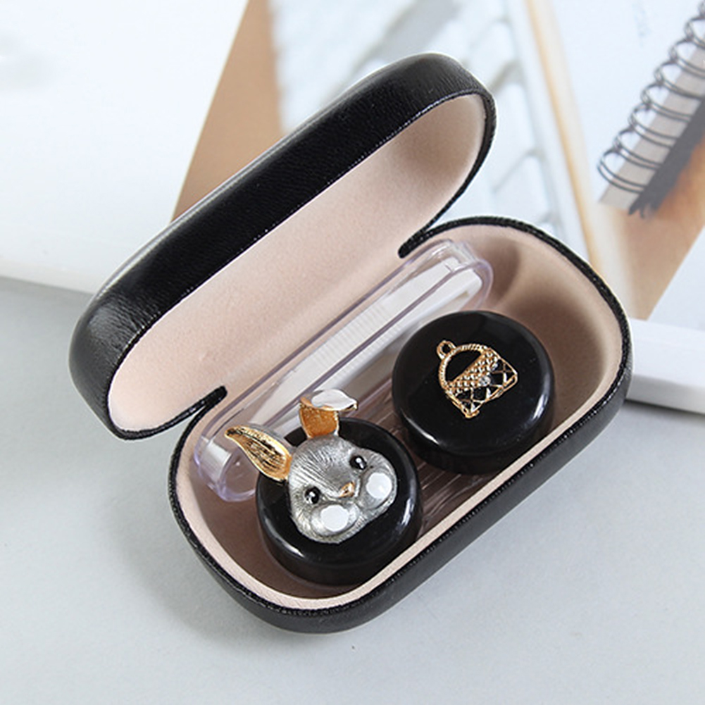 Morden Women Cute Case Glass Lens Container Box Female Cute Useful Box