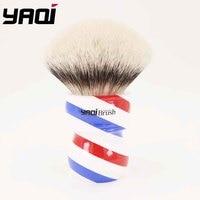 Yaqi 75 мм Monster Two Band Badger щетка для бритья волос с ручкой Barberpole