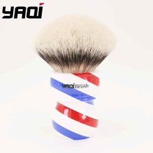 Yaqi 75mm Monster Two Band Badger Hair Shaving Brush With Barberpole Handle 24mm yaqi two band badger hair brushes for razor
