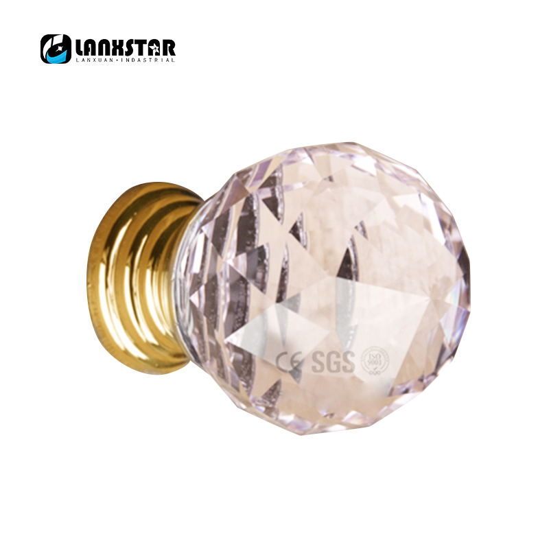 New 25mm Express Free Crystal Drawer Handle in Brass Fashion Quality ...
