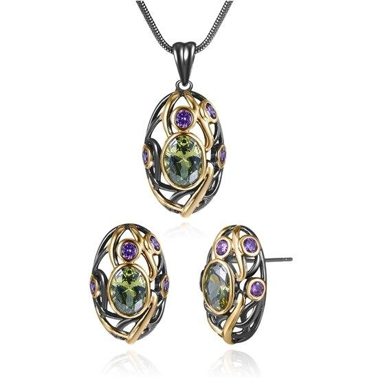 ZHE FAN Oval Jewelry Sets...
