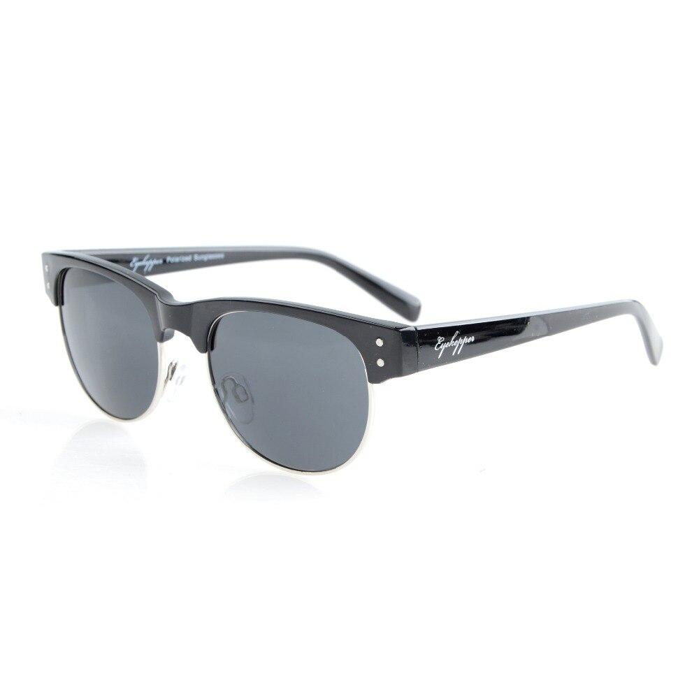 463186b56 S011 Polarized eyekepper retro oval redondo medio semi-rimless Polarized  Gafas de sol mujeres
