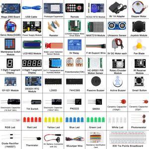 Image 2 - LAFVIN Mega 2560 Kit completo de iniciación, incluye LCD1602 IIC/Sensor ultrasónico para Arduino con Tutorial