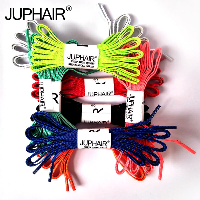 JUP1 Pair New Arrival Athletic Flat Reflective Shoe Laces Bootlaces Shoelaces String For Sneaker Fashion Party Casual Cloth Shoe