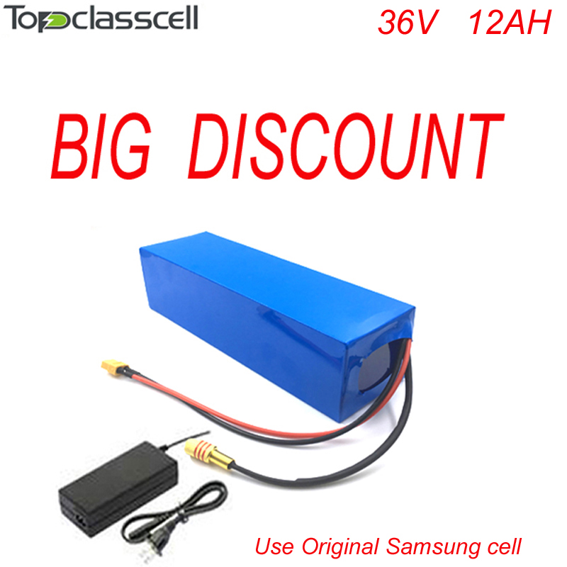 Free customs taxes DIY 36v 500w Samsung lithium battery electric bike battery 36v 12ah electric bike battery pack with   charger free customs taxes 52v lithium ion battery 51 8v 40ah battery pack 52v lithium iron phosphate battery on sale for ups led