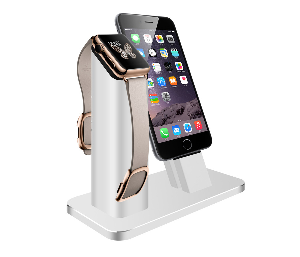 2017 The new listing of the exclusive sales of Apple mobile phone support all metal Iwatch aluminum alloy watch charging base full metal new listing 1600mw mini diy
