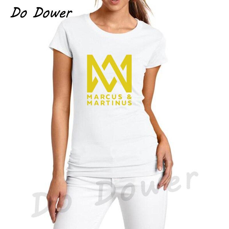 T  -  Shirt   Women Marcus and Martinus DJ   T     Shirt   Lady's Summer Cotton Short Sleeve Hip Hop Streetwear   T     Shirts   Casual Tee   Shirt   Tops