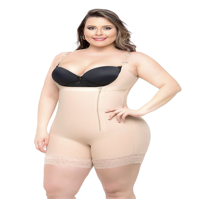 fce9b27029 Butt Lift Tight Sculpting BodyShaper Fat Control Shapewear Bodysuit Women  corrective Large Size Underwear Slimming Shapewear