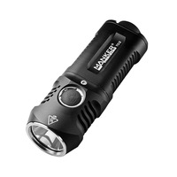 Manker T02 1500 lumens Pocket Torch CREE XHP35 LED Flashlight Use 2x AA / 2x 14500 Batteries
