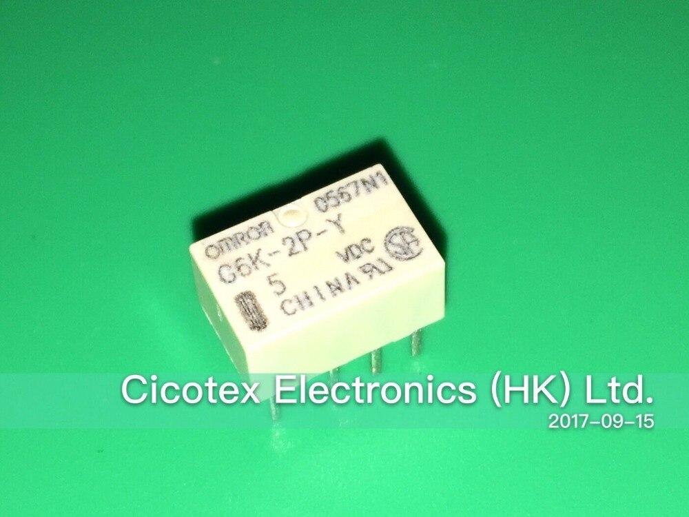 10PCS/LOT G6K-2P-Y-5VDC DIP8 RELAY TELECOM DPDT 1A 5V G6K-2P-Y