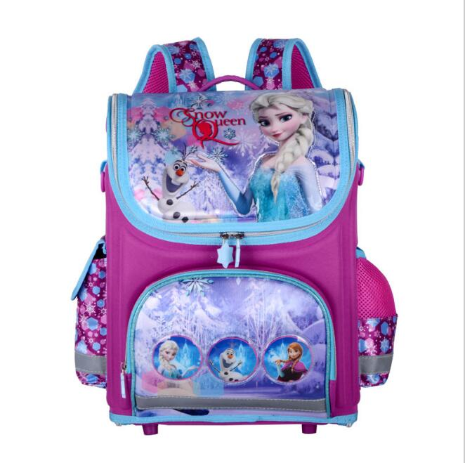 Upgrade Multi-Style Elsa Bag Butterfly Princess Backpack Waterproof Girls School Bags Orthopedic Backpack for Girl mochila kids