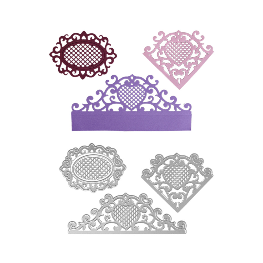 138*48MM scrapbooking Greeting card lace frame love shape Metal steel cutting flower sha ...