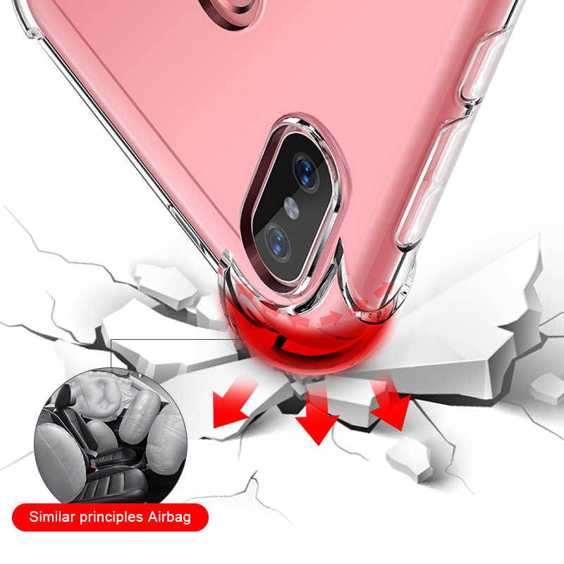 حافظة من السيليكون لـ Xiao mi Red mi نوت 5 6 Pro 6A 5 Plus جراب هاتف شاومي Pocophone F1 mi x 2S 3 8 A2 Lite A1 mi 8 SE mi 6 mi 6X mi 5X