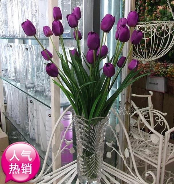 Menawarkan Bunga Simulasi 3 Tulip Dekorasi Plastik Sutra Buket Ruang Tamu