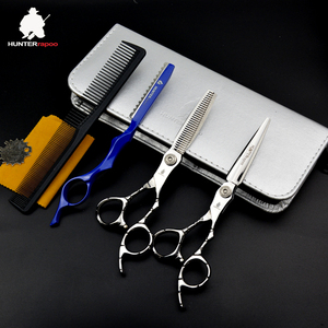 HUNTERrapoo HT9124 30% off  6 inch Japan Stainless Steel Barber Scissors Set Hair Cutting Scissor Thinning Shears For haircut