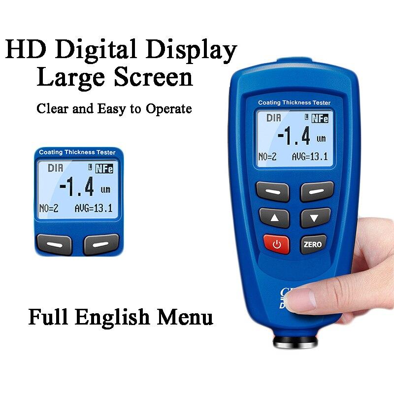 Mini mètre de revêtement d'épaisseur d'appareil de contrôle de peinture de voiture de mesure d'épaisseur d'automobile de Digital Mini testeur portatif de mesure d'épaisseur DT-156