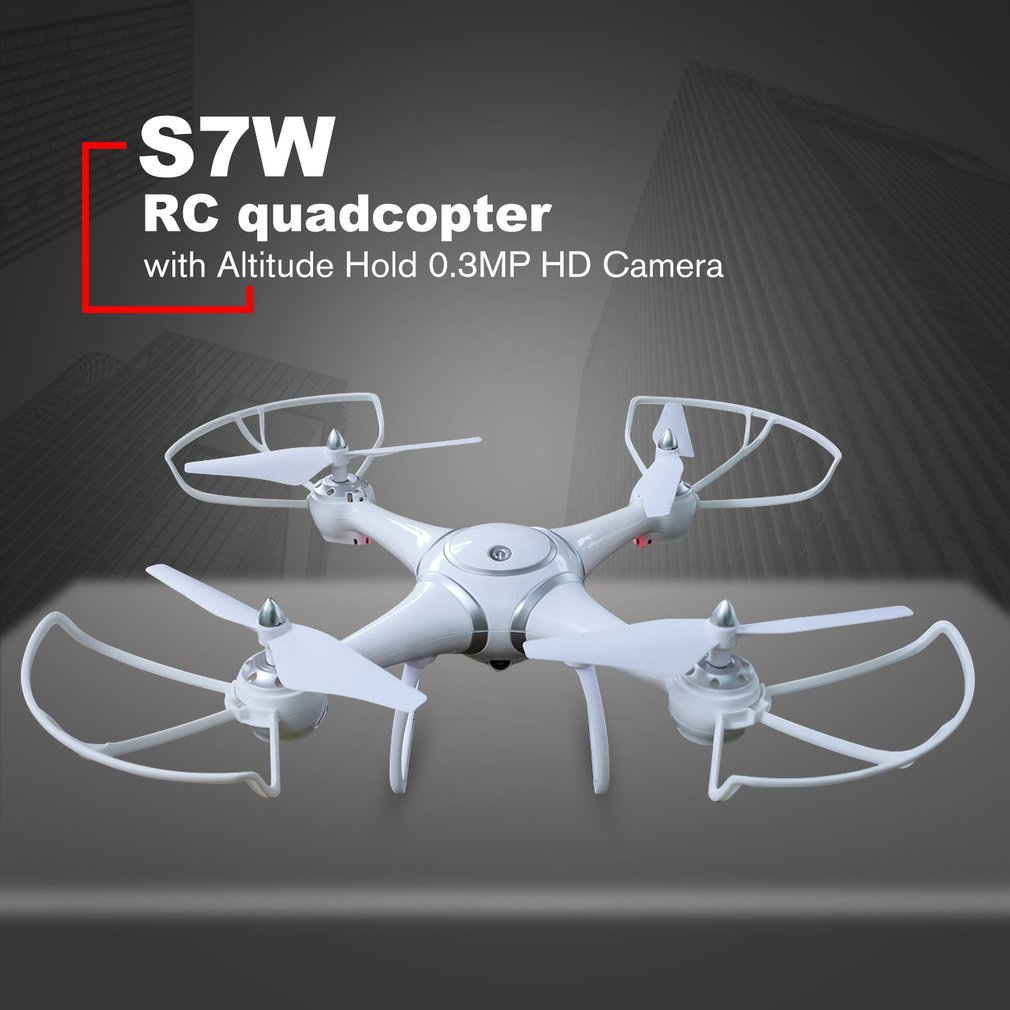 S7W Smart Selfie RC Quadcopter Drone Aircraft with Wifi FPV 0.3MP HD Real-time Camera Altitude Hold 3D Flips for KidsS7W Smart Selfie RC Quadcopter Drone Aircraft with Wifi FPV 0.3MP HD Real-time Camera Altitude Hold 3D Flips for Kids