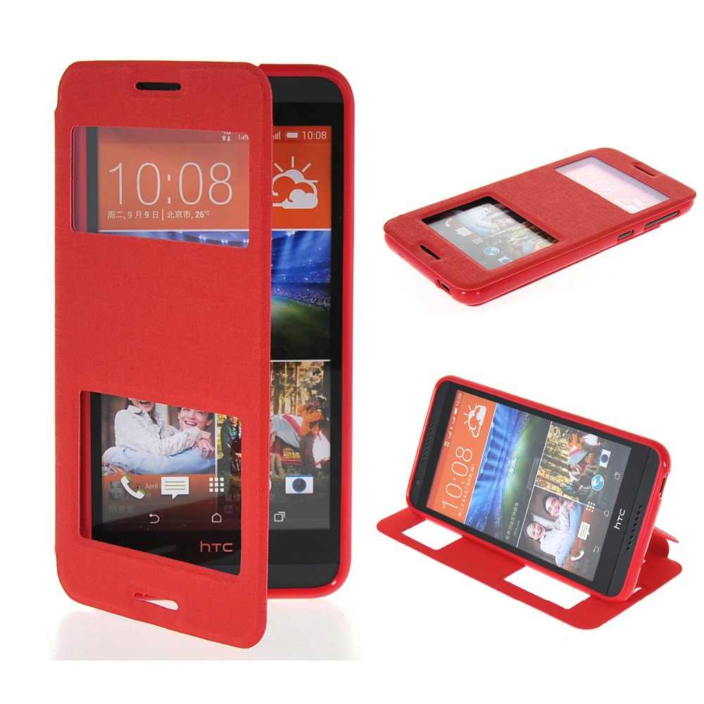 5.0For HTC Desire 620 Caso Pu de Couro Para HTC Desire 620 620G 820 Mini Tampa Flip Do Telefone Celular Caso