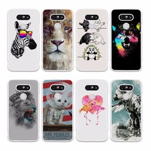 Summery Flamingo Zebra King Lion hard white Mobile Phone Case Cover for LG G6 G5 V20 V10 K8 K10 2017 K5 K4 K3 2017