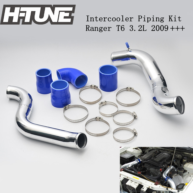 H-TUNE Original Aluminum Turbo Diesel Intercooler Pipe Piping Kits for Ranger T6 3.2L 2012++ lr031466 lr020401 intercooler 2 2l turbo diesel for evoque 2012 freelander 2 2006 charge air cooler engine spare parts supply