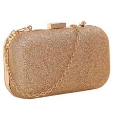 Женская мини-вечерняя сумка из искусственной кожи, модный клатч, сумка для банкета, сумка через плечо для девушек, сумка-мессенджер, золотая