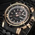 2016 Moda de Nueva Marca Hombres Deportes Relojes hombres de Cuarzo Hora Fecha Reloj Hombre Militar Del Ejército reloj de Pulsera Impermeable de Acero Inoxidable reloj