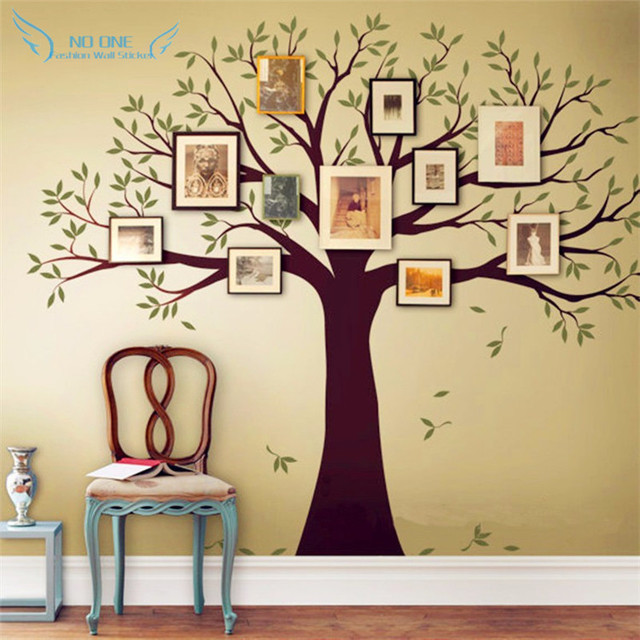 Family Tree Wall Decal Tree Wall Sticker Home Decor Living Room Wall ...