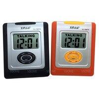 Espanhol Falando LCD Digital Alarm Clock para Cegos ou com Baixa Visão  laranja ou Cor Preta|Relógios para Casais| |  -