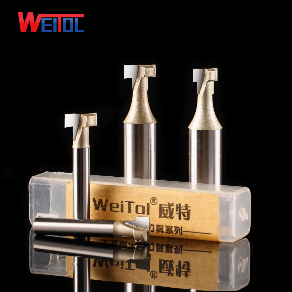 Weitol 1pcs 1/2 inch tungsten carbide keyhole cutter woodworking tools T-slot cutter CNC router bits for wood free shipping pro grade 2 piece tungsten carbide 1 2 inch router bits set