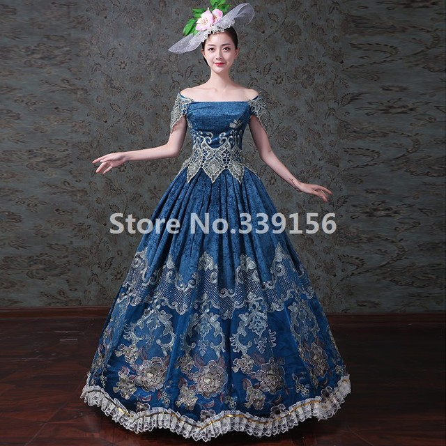 9daf473b9d08f Vintage Medieval Dresses Upscale Marie Antoinette Carnivale Dress Stage Theater  Costumes