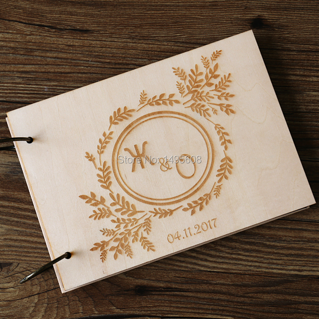 Wedding Guest Book Wood Unique Guestbooks Rustic GuestBook Wooden Personalized Ideas