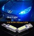 2 pcs T10 W5W Lâmpadas de Plasma LED Lado Marcador de Luz de Estacionamento Lâmpada Para Peugeot 106 206 207 307 301
