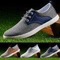 Мужчины Обуви 2016 Новых Мужчин Плоские Туфли Мода Осень Летние Ботинки Холстины Дышащие Низкие шнуровке Повседневная Обувь Мужчины Zapatos Hombre