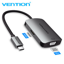 Vention USB C to HDMI 4K 30HZ VGA 1080P 60HZ Male Type-c Converter for MacBook Pro Chromebook Pixel Metal body new