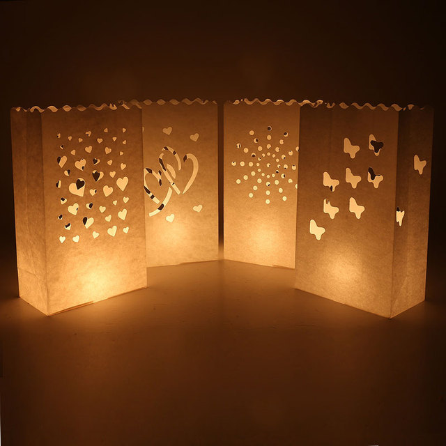 100pcs Lot Candle Bag Wedding Ant Tea Light Paper Bags Luminaries Lantern For Birthday Party