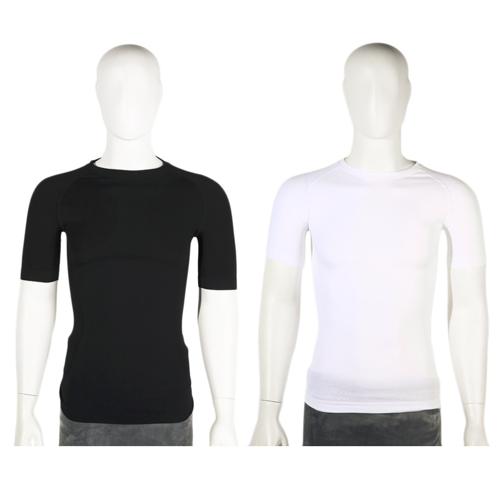 mens Gym T shirt Compression Tights Sport T-shirt Dry Quick Running Short Sleeve T-shirts Fitness Women Clothes Tees & tops